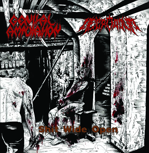 GENITAL AMPUTATION / NECRODIUM: Shit Wide Open, CD